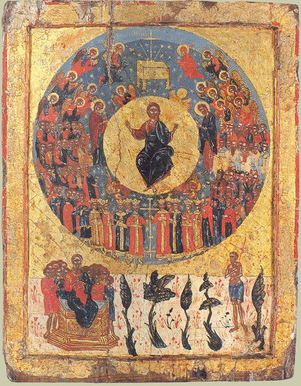 The Second Coming. Greek icon. 1700.